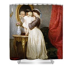 Reflections Of Maternal Love Shower Curtain by Robert Julius Beyschlag