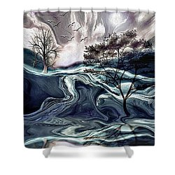 Reflections Of Nirvana Shower Curtain