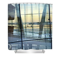 Shower Curtain featuring the photograph Reflections Of Oslo by David Chandler