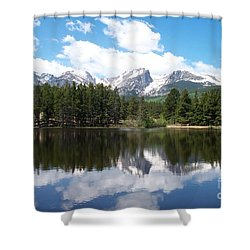 Reflections Of Sprague Lake Shower Curtain by Dorrene BrownButterfield