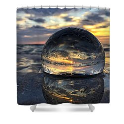 Reflections Of The Crystal Ball Shower Curtain
