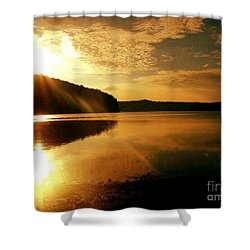 Reflections Of The Day Shower Curtain by Scott D Van Osdol