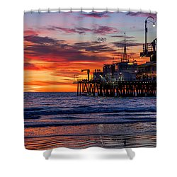 Reflections Of The Pier Shower Curtain