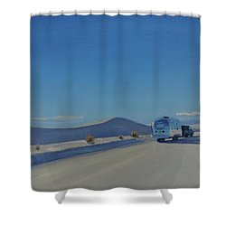 Reflections Of White Sands Shower Curtain