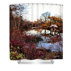 Shower Curtain featuring the photograph Reflections On A Winter Day - Central Park by Madeline Ellis