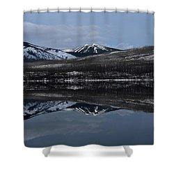 Reflections On Lake Mcdonald 3 Shower Curtain