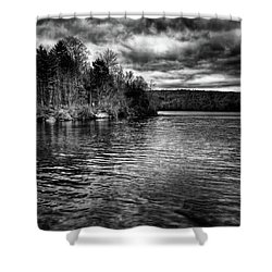 Reflections On Limekiln Lake Shower Curtain by David Patterson