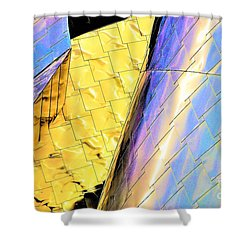 Reflections On Peter B. Lewis Building, Cleveland2 Shower Curtain
