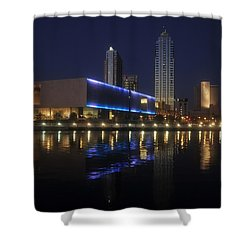 Reflections On Tampa Shower Curtain by David Lee Thompson