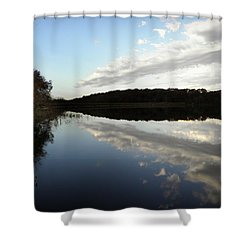Shower Curtain featuring the photograph Reflections On The Lake by Chris Berry