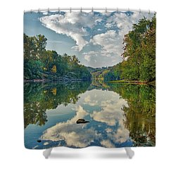 Reflections On The Meramec Shower Curtain