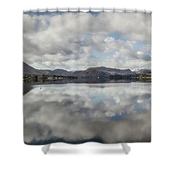 Shower Curtain featuring the photograph Reflections On Ullswater by RKAB Works