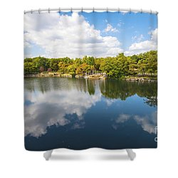 Shower Curtain featuring the photograph Reflections by Pravine Chester