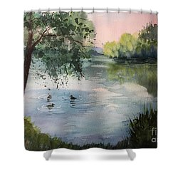 Reflections Shower Curtain by Yohana Knobloch