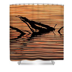 Reflective Abstract Shower Curtain