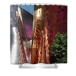 Reflective Buildings Shower Curtain
