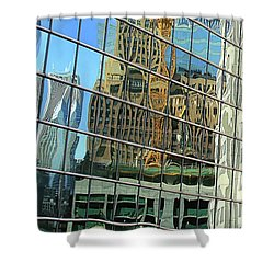 Reflective Chicago Shower Curtain