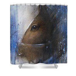 Reflective Horse Shower Curtain