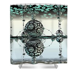 Reflective Shower Curtain by Michelle H