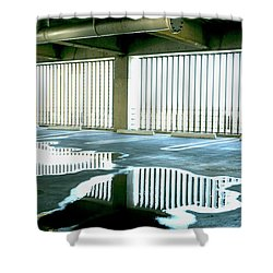 Reflective Pool Shower Curtain