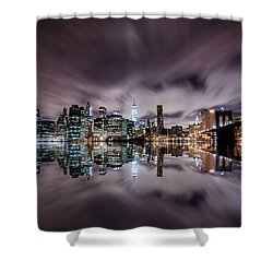 Reflector Adherence  Shower Curtain