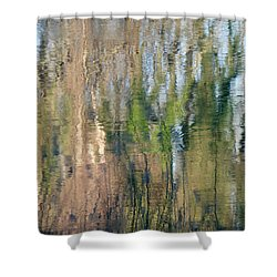 Shower Curtain featuring the photograph Reflet Rhodanien Pastel 1 by Marc Philippe Joly