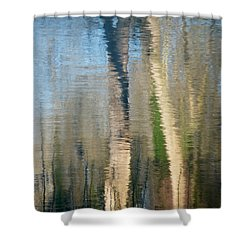 Shower Curtain featuring the photograph Reflet Rhodanien Pastel 2 by Marc Philippe Joly