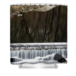 Reflexions And Water Fall Shower Curtain by Dorin Adrian Berbier