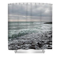 Reflux Shower Curtain