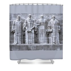 Reformers Wall, Geneva, Switzerland, Hdr Shower Curtain