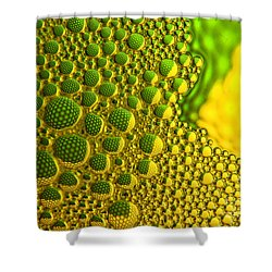 Refracted Circles Shower Curtain
