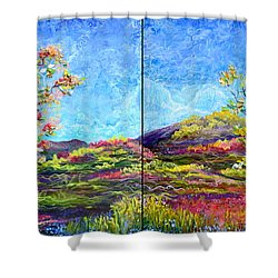 Refresh And Renew As A Diptych Orientation 1 Shower Curtain by Regina Valluzzi