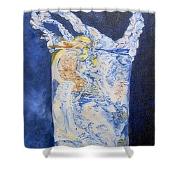 Shower Curtain featuring the painting Refresh by Saundra Johnson