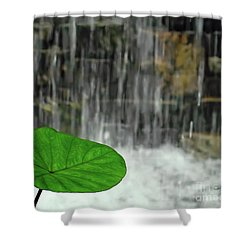 Shower Curtain featuring the photograph Refreshed By The Waterfall by Sue Melvin