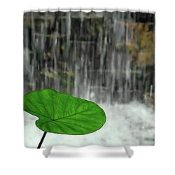 Refreshed By The Waterfall Shower Curtain