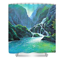 Refreshing Streams Shower Curtain by Lou Ann Bagnall