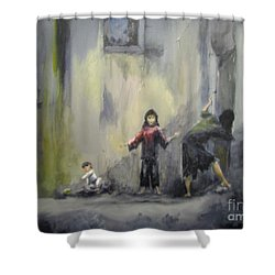 Refugees Shower Curtain