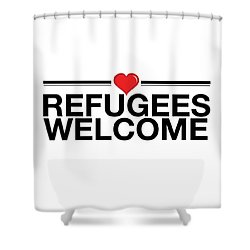 Refugees Wecome Shower Curtain