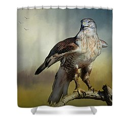 Regal Bird Shower Curtain