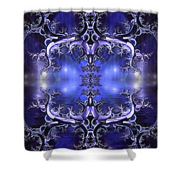 Regal Composition Shower Curtain by Mario Carini