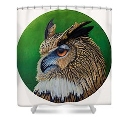 Regal Gaze Shower Curtain by Brian  Commerford