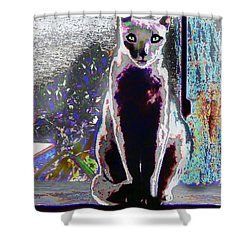 Regal Puss Shower Curtain by Expressionistart studio Priscilla Batzell