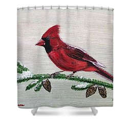 Regal Red Shower Curtain