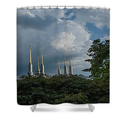 Regal Spires Shower Curtain