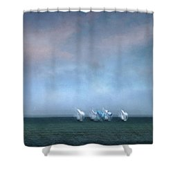 Regatta 2 Shower Curtain
