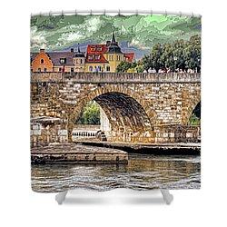 Regensburg Stone Bridge Shower Curtain