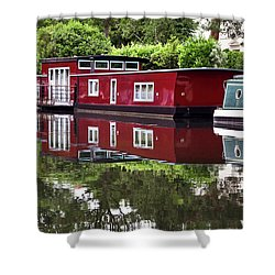 Regent Houseboats Shower Curtain by Keith Armstrong