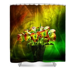 Reggae Tulips Shower Curtain