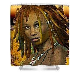 Reggae Woman Shower Curtain
