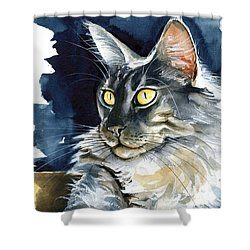 Regina - Maine Coon Painting Shower Curtain